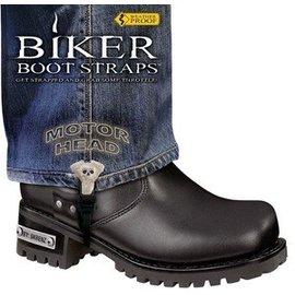 Biker Boot Straps Biker Boot Strap Motor Head 6in