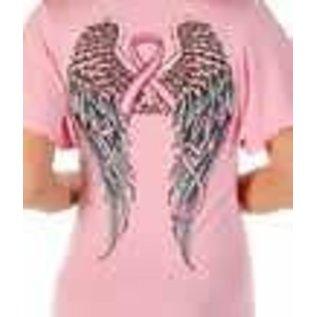 Liberty Wear Shirt SS Pink Ribbon Wings