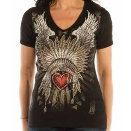 Liberty Wear Shirt SS Indian Heart Headdress