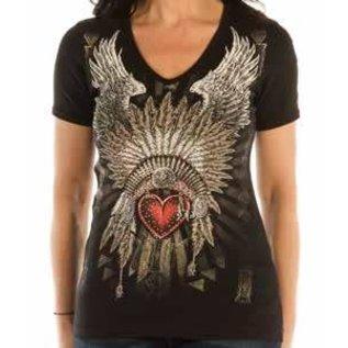 Liberty Wear Shirt SS Indian Heart Headdress