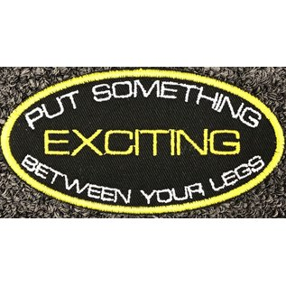 Route 66 Biker Gear Patch Something Exciting Legs 4in