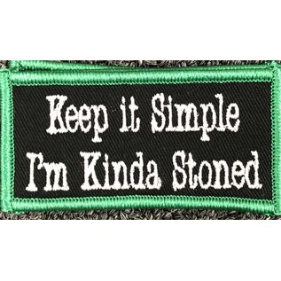 Route 66 Biker Gear Patch Keep it Simple Stoned 3in