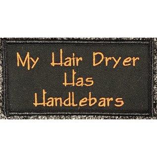 Route 66 Biker Gear Patch Hair Dryer Handlebars 4in