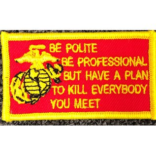 First Coast Biker Gear Patch Be Polite, Professional 3in