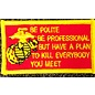 Route 66 Biker Gear Patch Be Polite, Professional 3in