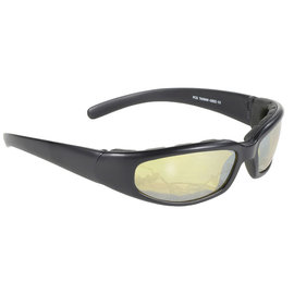 Pacific Coast Sunglasses PCS Rally Blk Fr/Ylw Sil Mir Lens
