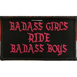 First Coast Biker Gear Patch Badass Girls Ride 3.5in