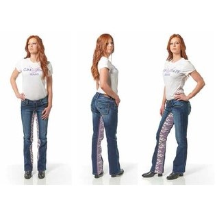 Gravitate Jeans *DISC Gravitate Jeans Ladies Blue Flames 10 x 32