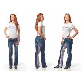 Gravitate Jeans *DISC Gravitate Jeans Ladies Blue Flames 8 x 34