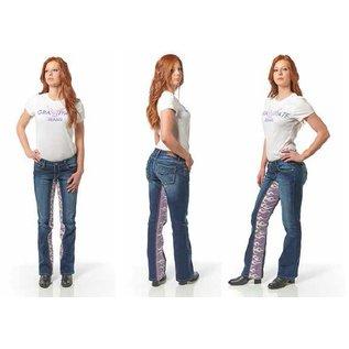 Gravitate Jeans *DISC Gravitate Jeans Ladies Blue Flames 8 x 34