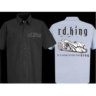 Nasty Baggers Work Shirt Road King Pride Charcoal