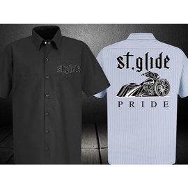 Nasty Baggers Work Shirt Street Glide Pride Lt Blue 5XL