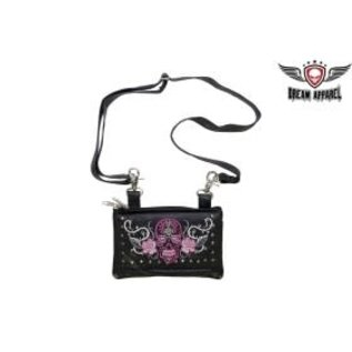 Dream Apparel Clip Pouch Sugar Skull Pink