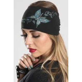 Hair Glove EZ Band Bling Teal Butterfly