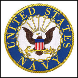 Eagle Emblems Patch Navy Circle 10in