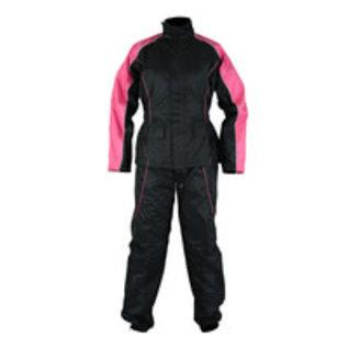 Daniel Smart Mfg Rainsuit Ladies Pink/Black