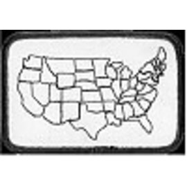 Biker's Stuff Patch Fillable US Map