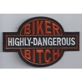 Biker's Stuff Patch BB Highly Dangerous 3in