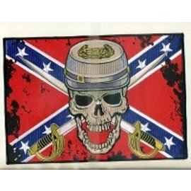 Biker's Stuff Patch Confederate Soldier 10in