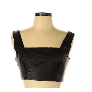Forever 21 Forever 21 Faux Leather Top Sz M