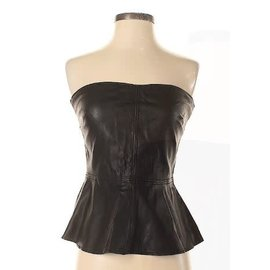 Zara Zara Faux Leather Top Sz M