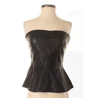 Zara Zara Faux Leather Top Sz M