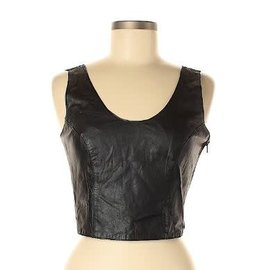 Chia Chia Leather Top Sz M