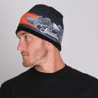 Hot Leather Soft cotton beanie with bright sublimated design! Snug fit to stay on while you're riding!