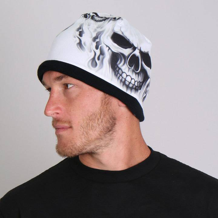Hot Leather Soft cotton beanie with bright sublimated design! Snug fit to  stay on while 637bd0c83d1