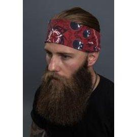Hair Glove EZ Dana Red Tribal Skulls