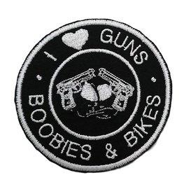 First Coast Biker Gear Patch I Love Guns Boobs Bikes 3in