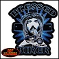 Hot Leather Patch Blessed Biker 4in