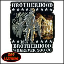 Hot Leather Patch Brotherhood Wherever 5in