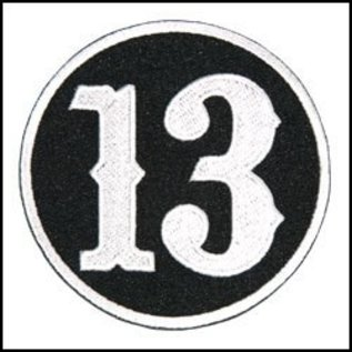 Hot Leather Patch Circle 13 3in