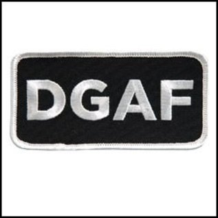 Hot Leather *DISCV Patch DGAF 4in