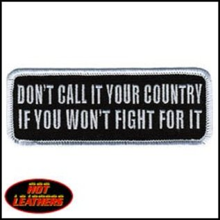 Hot Leather Patch Don't Call It You Country 4in
