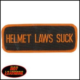 Hot Leather Patch Helment Laws Suck 4in