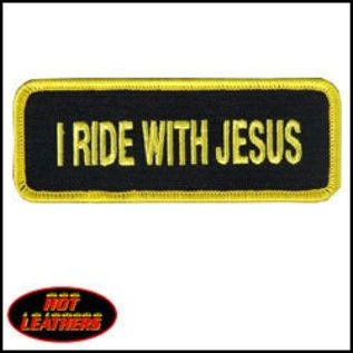 First Coast Biker Gear Patch I Ride With Jesus 4in