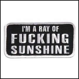 Hot Leather Patch Im A Ray Of F***ing 4in