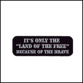 Hot Leather Patch Land of the Free 4in