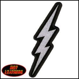 Hot Leather Patch Lightning Bolt 5in