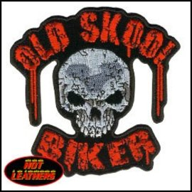 Hot Leather Patch Old School Biker 4in