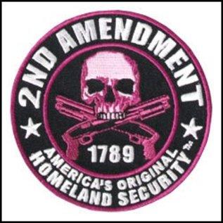 Hot Leather Patch Purple 2nd Amendment 3.5in