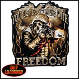 Hot Leather Patch Skull Soldier 5in