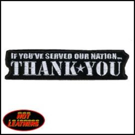 Hot Leather Patch Thank You 4in