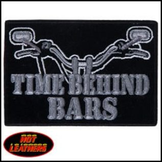 Hot Leather PATCH TIME BEHIND BARS BK/GRY 4W 3H