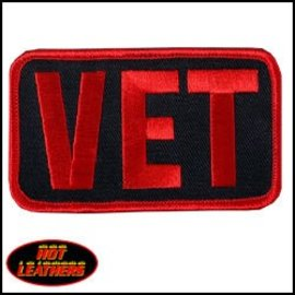 Hot Leather Patch Vet 3in