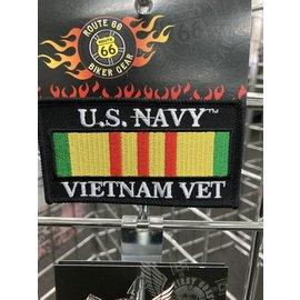 Jerwolf Enterprises Patch Vietnam Vet Navy 4in