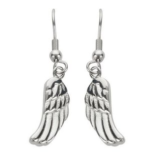 Rossi Earring Silver Angel Wings