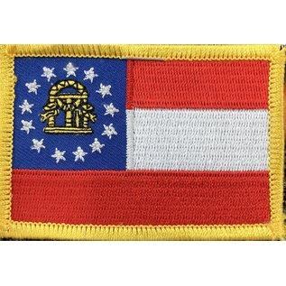 Eagle Emblems Patch Georgia Flag 3 in